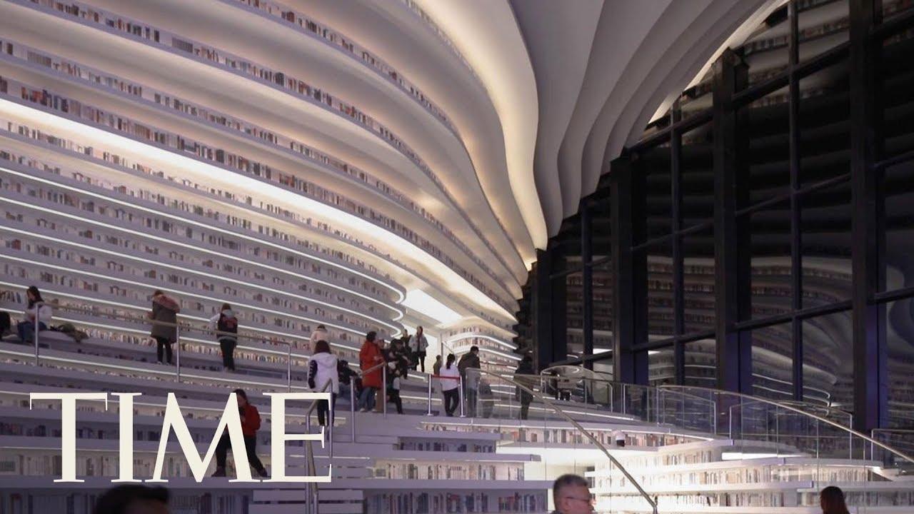 FOTOS DE BIBILIOTECAS, Y VIDEOS: Tianjin Binhai, en las afueras de Pekín